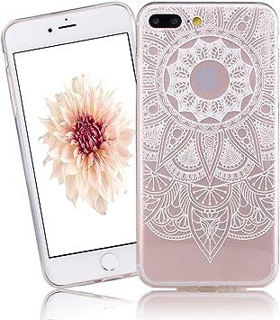 Caselover Funda iPhone 7 Plus, iPhone 7 Plus 5.5 Carcasa Case Silicona Gel Ultra Fina Flexibilidad Transparente Anti-rasguños Impresión Estética Cover para Apple iPhone 7 Plus: Amazon.es: Electrónica
