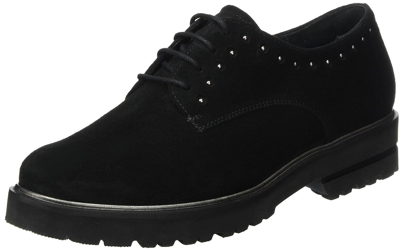Semler Elena, Zapatos de Cordones Brogue para Mujer 43 1/3 EU|Negro (Schwarz 001)