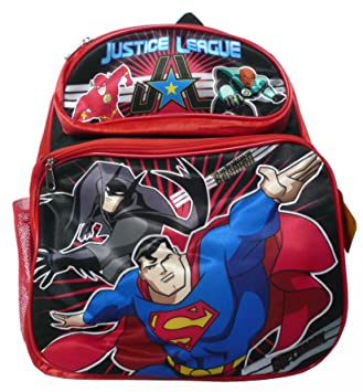 e58e59176e Superman Batman Justice League Unlimited (BP010) Backpack with 2 side mesh  pockets rucksacks school