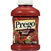 Prego Italian Pasta Sauce, Flavored with Meat, 67 Ounce