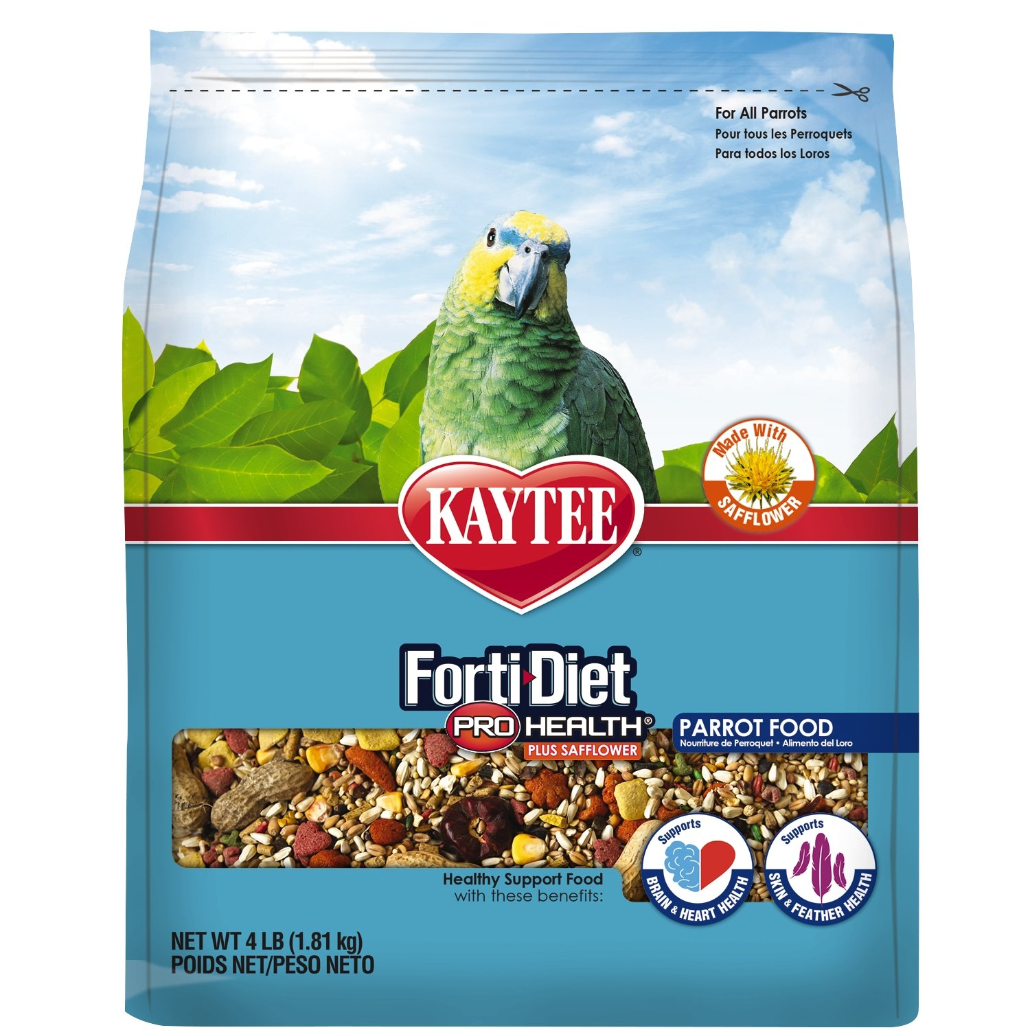 Kaytee Forti-Diet Pro Health with Safflower Parrot Food, 4 lb by Kaytee