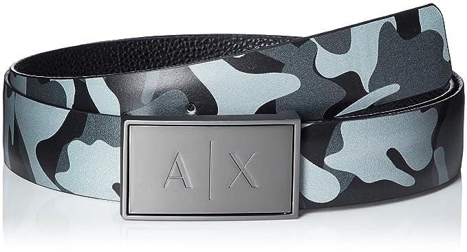 d6003ca1acfe A X Armani Exchange Men s Belt, Camouflage Black, One Size  Amazon ...