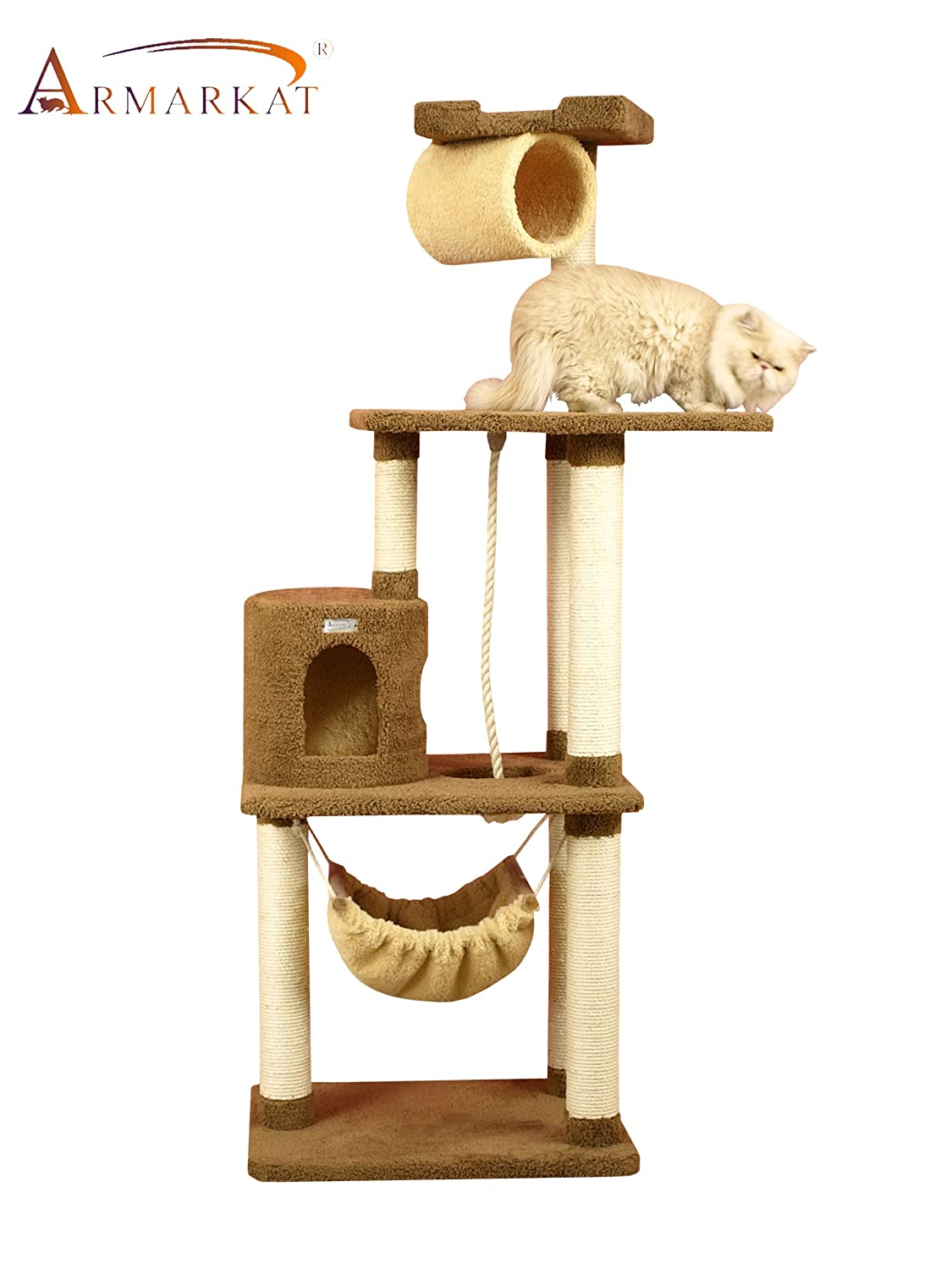 Amazon.com : Armarkat Premium Cat Tree Model X7001, Tan : Cat Tower : Pet  Supplies