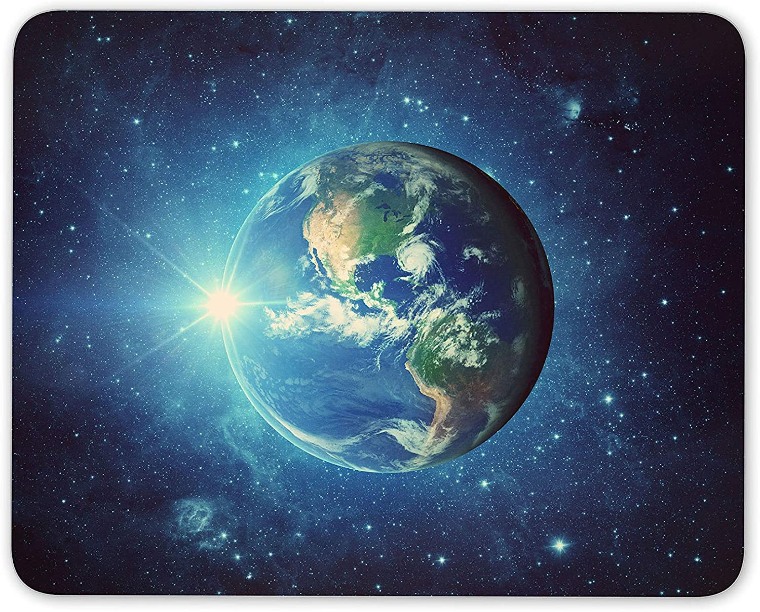 Awesome Blue Planet Mouse Mat Pad Earth Space Nasa Amazon Co Uk Electronics