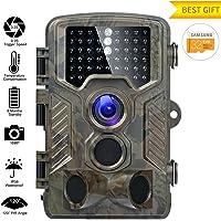 Caméra de Chasse 16MP 1080P HD Caméra Animaux de Surveillance 120°Grand Angle Imperméable IP56 Piège Photographique 20M Vision Nocturne Infrarouge 49 LEDs IR Basse Luminosité Camera de Surveillance