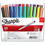 Sharpie 75847 Permanent Markers, Ultra Fine Point, Assorted Colors, 24-Count
