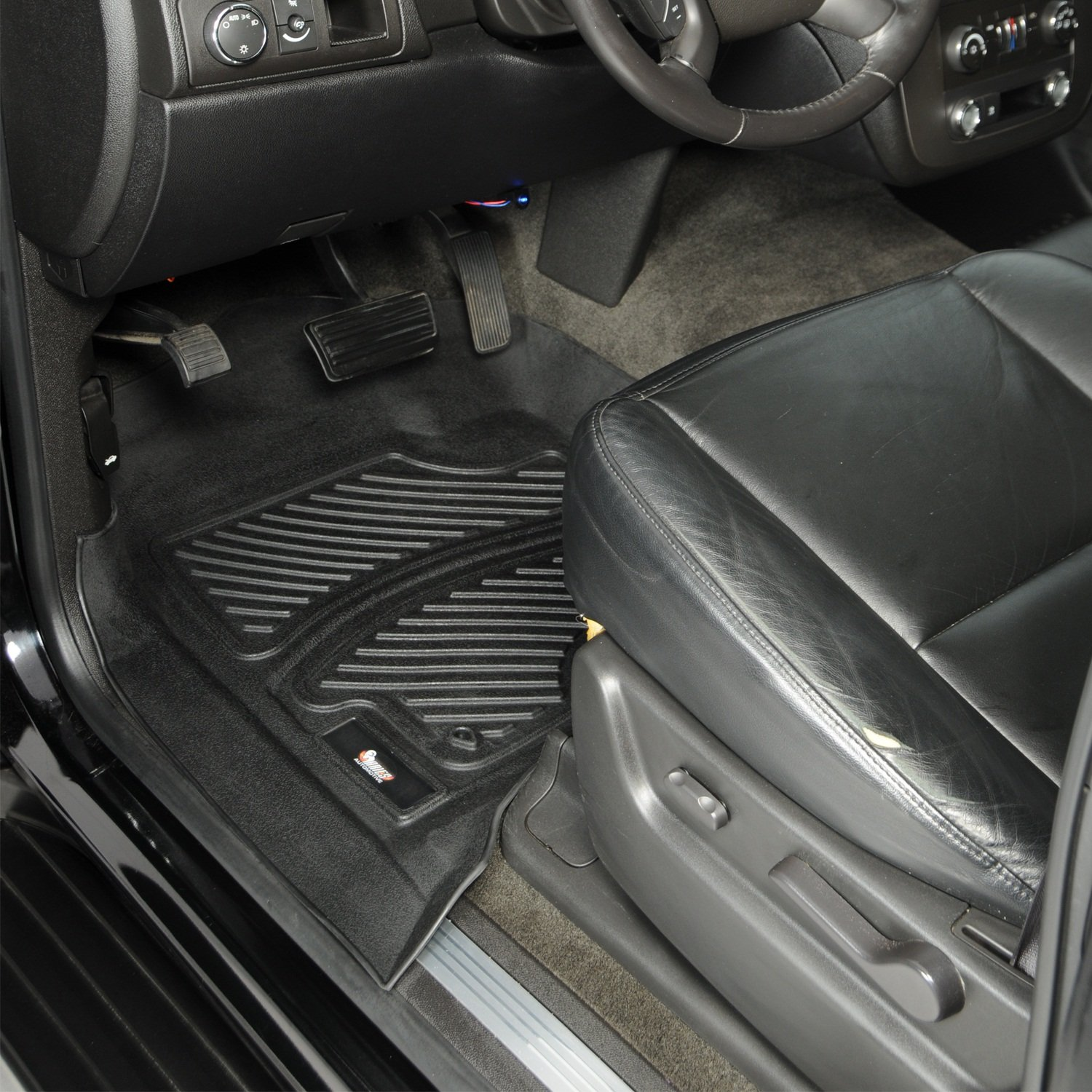 2 Piece Aries HD04111509 Black Front 3D Floor Liner