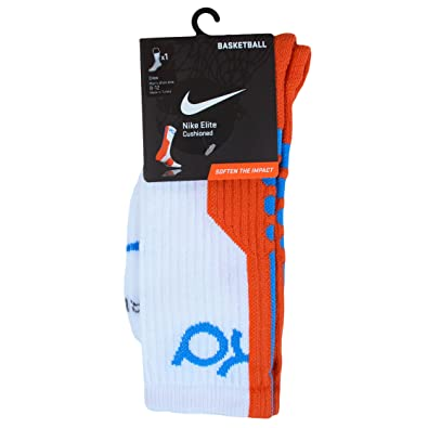 Nike Juventud KD Elite Acolchado Calcetines de Baloncesto sx4736 tamaño 3Y-5Y, White/Team Orange-Photo Blue: Amazon.es: Deportes y aire libre