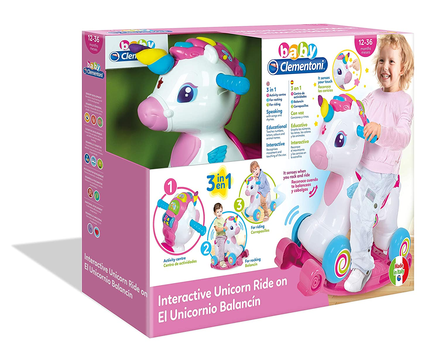 Clementoni-El Unicornio Balancín, Multicolor (617647): Amazon.es ...