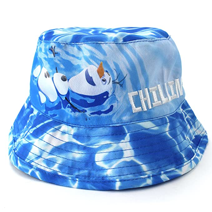 c52c1bb33d3 Image Unavailable. Image not available for. Color  Disney Frozen Olaf Boys  Blue Bucket Hat (Toddler Little ...
