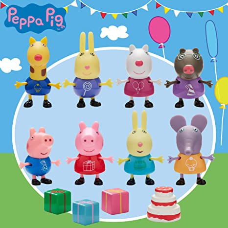 f969ffe3345 Amazon.com: Peppa Pig - Peppa And Friends Party Pack (06927) /toys ...