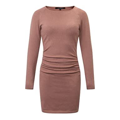 a1992162c1 CANALSIDE Bodycon Sweater Dresses for Women Fitted Long Sleeve Scoop Neck  Knit Wear (XS