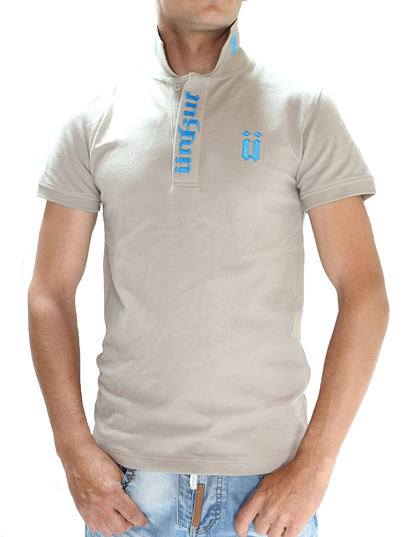 Unkut - Polo para hombre manga corta (Beige Typo azul cielo beige ...