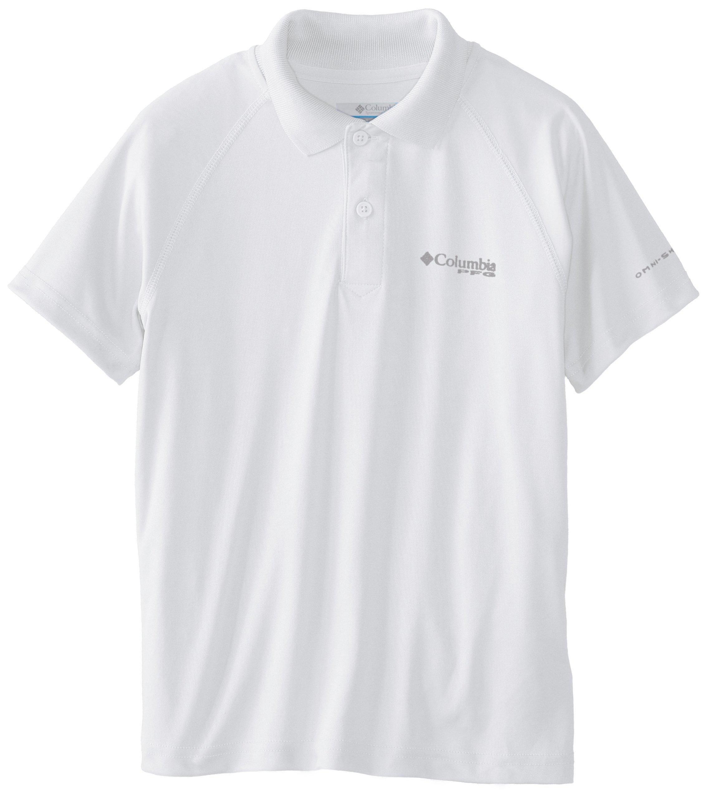 Columbia Sportswear Boy's Terminal Tackle Polo Shirt (Youth), White, Medium
