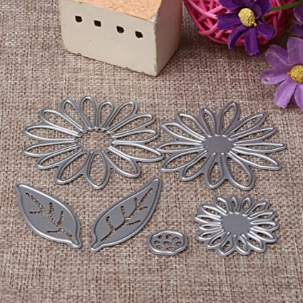 Amazon 6pcs Flowers Metal Die Cutting Dies In Scrapbooking Die