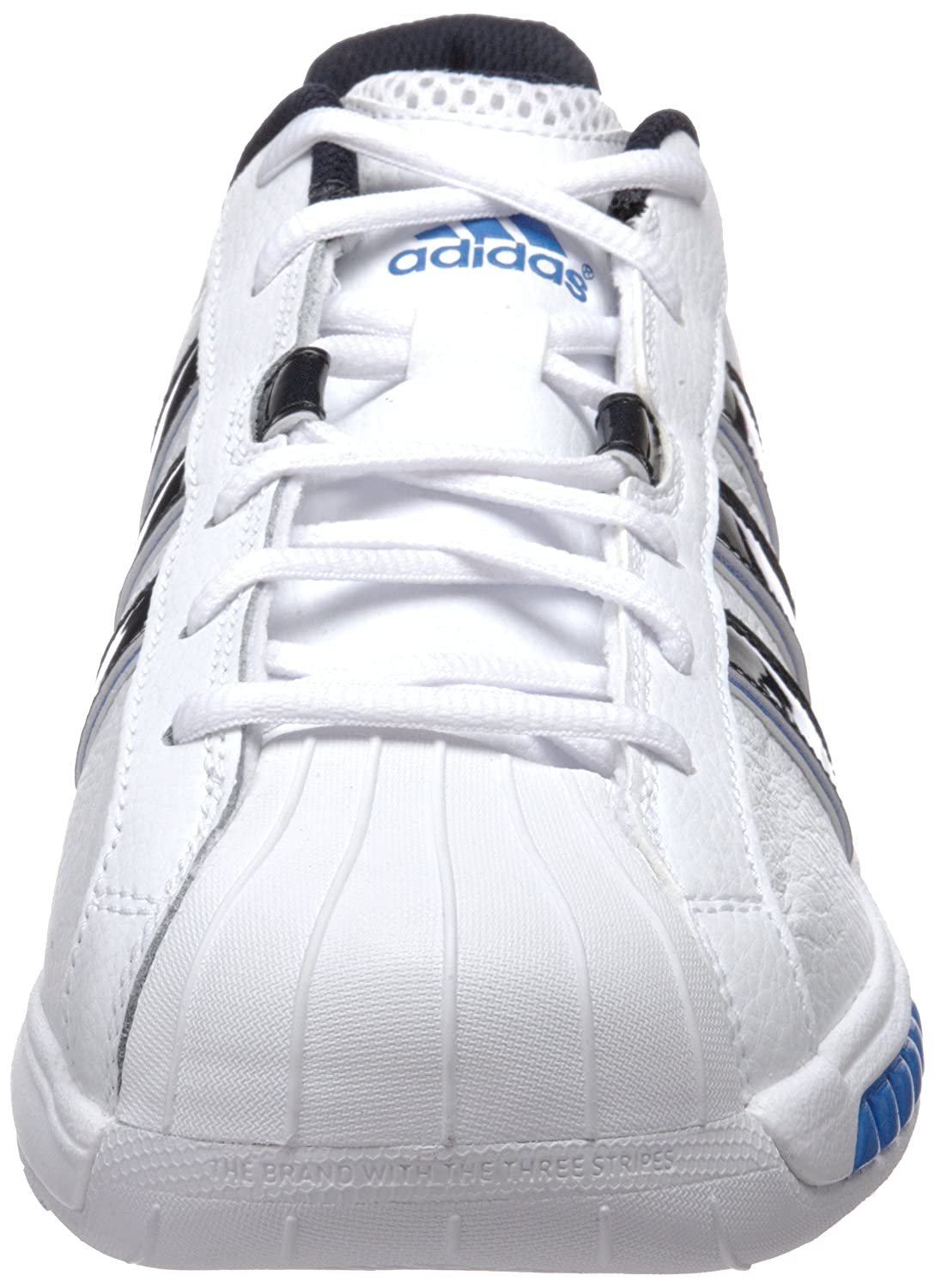 Amazon.com | adidas Men\u0027s Superstar 3G Speed Basketball Shoe, Running  White/Dark Navy/Fresh Blue, 6.5 M US | Road Running