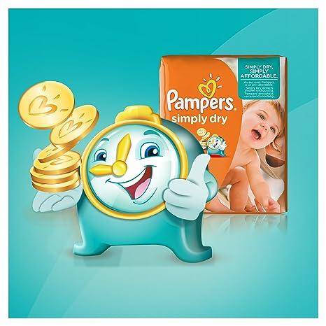 Pampers - Simply dry midi 11-25kg, pack de 2 (2 x 66 unidades): Amazon.es: Salud y cuidado personal