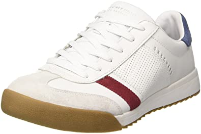 skechers mens white trainers