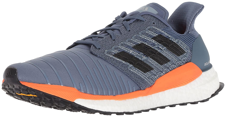adidas Men's Solar Boost Running Shoe B0778W424L 7 D(M) US Tech Ink/Grey/Hi-res Orange