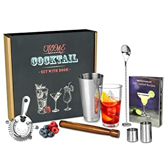732b50d431393 Home Cocktail Set with Cocktail Book by bar drinkstuff