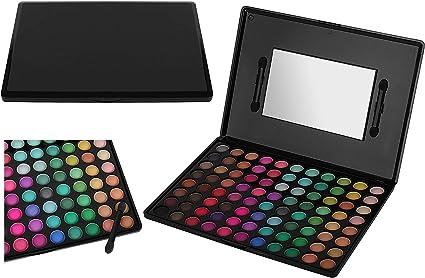 88 colores de sombra de ojos sombra de ojos paleta de maquillaje Kit Set Makeup Powder Fácil de colorear Multifuncional 8956: Amazon.es: Belleza
