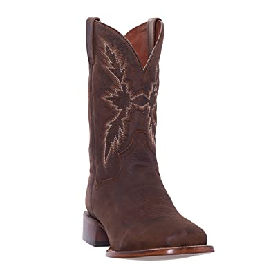 96b90a026ede3 Silver Canyon Mens Renegade Distressed Brown Square Toe Western Roper Cowboy  Boot