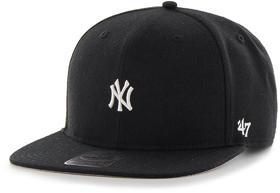 Gorra plana negra snapback de New York Yankees MLB Centerfield de 47 Brand  - Negro a273c8b197b