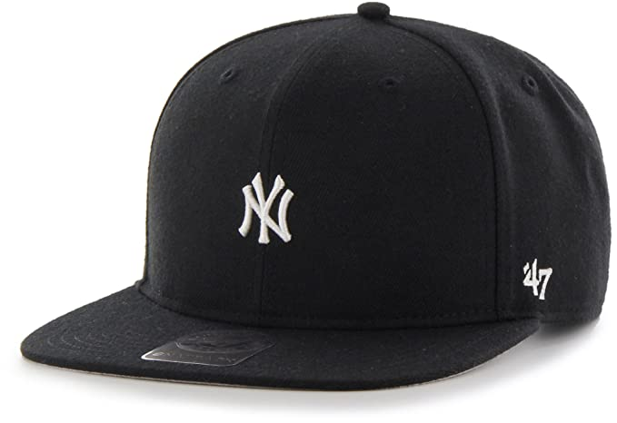 f594fc2c48b0a Gorra plana negra snapback de New York Yankees MLB Centerfield de 47 Brand  - Negro
