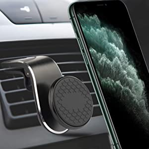 Magnetic Phone Car Mount(5 Super Magnets) 360°Adjustable Universal Air Outlet Magnet Phone Holder for Car Suitable for iPhone Samsung Google(Black)