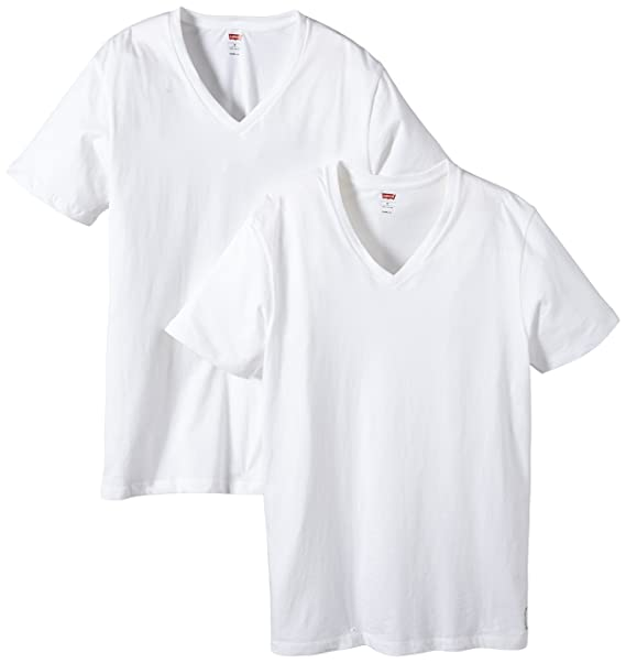 Levis 200Sf V-Neck 2P Camiseta interior, Hombre, Blanco (White),