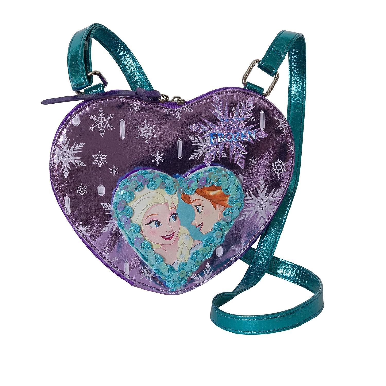 DISNEY Frozen Cuore Magico - Borsa Da Bambina con Tracolla - Colore:Viola