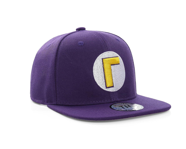 Super Mario Bros Waluigi Purple Snapback Baseball Cap