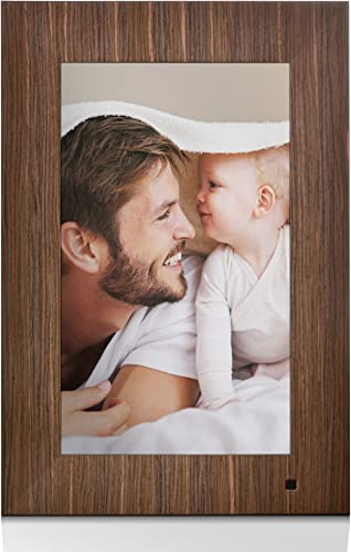 NIX Lux 13 Inch Digital Picture Frame Wood