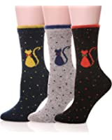 EBMORE Warm Soft Winter Cotton Socks for Cold Weather Classic Crew Sock (Pack of 3)
