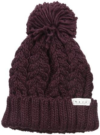 Amazon.com  Neff Women s Kaycee Soft Cuff Pom Beanie 4eb4a520a4a