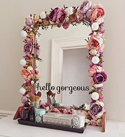 Hello   Gorgeous   Decal   Mirror   Decals   Stickers   10u0026quot; Wide X