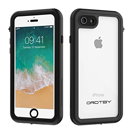 ORDTBY iPhone 7/8 Waterproof Case, Underwater Full Sealed Cover IP68 Certified for Waterproof Snowproof Shockproof and Dustproof Case for iPhone 7/8 ...