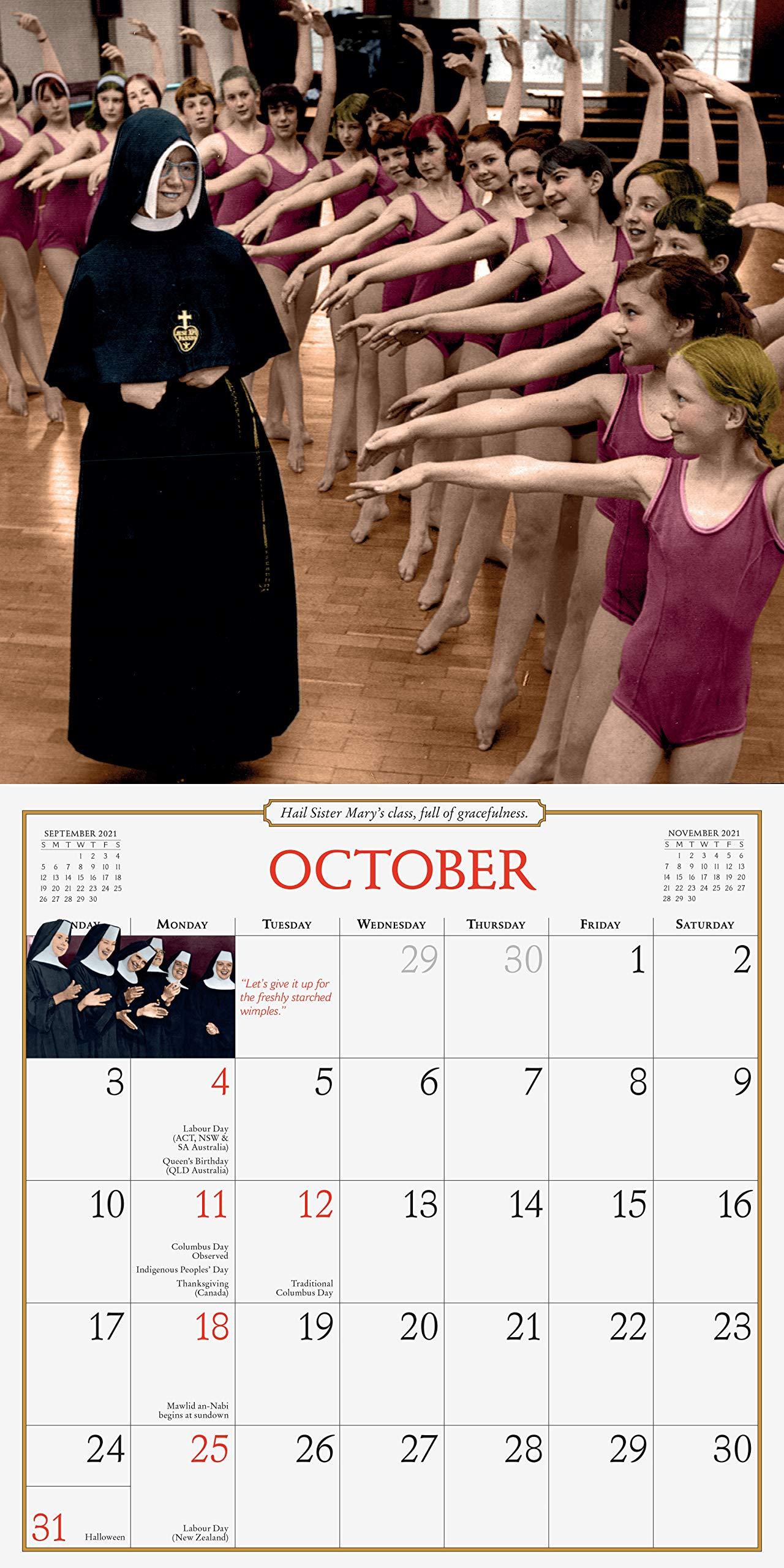 Pictures of Nuns Having Fun 2021 Calendar