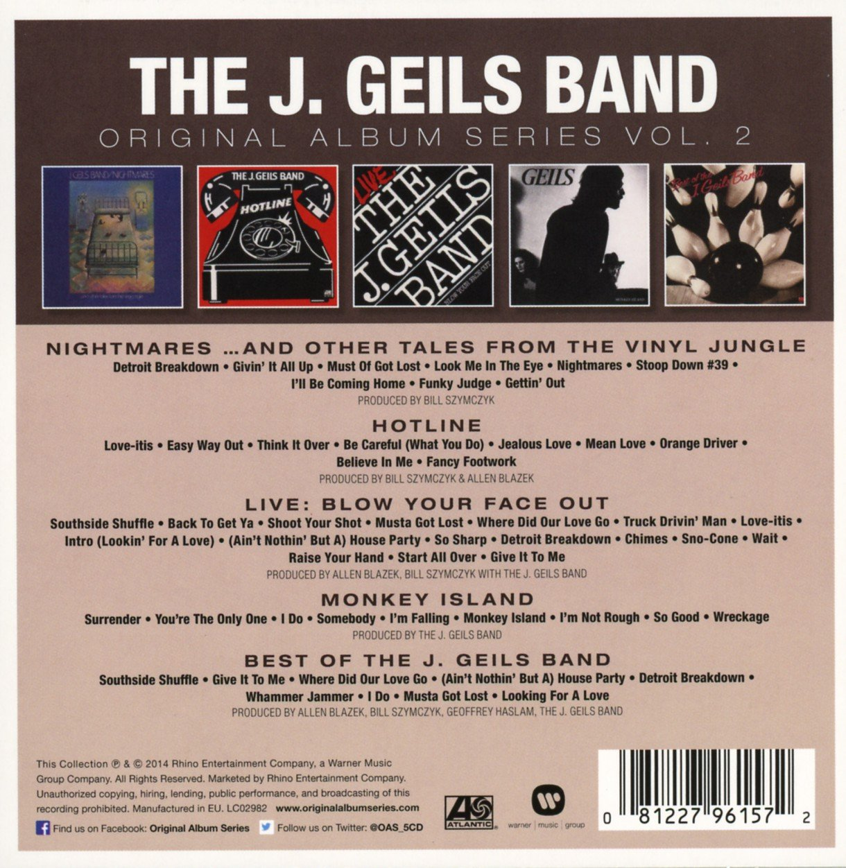 The J. Geils Band - Original Album Series - The J. Geils Band ...