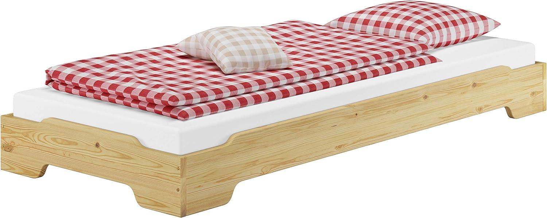 Kiefer wei/ß 90.10-S11W Erst-Holz/® Staubettkasten f/ür unsere Etagenbetten 80x190