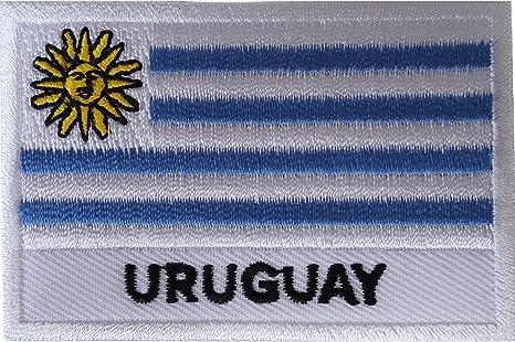 Parche bordado con la bandera de Uruguay para coser en camisas, ropa, América del Sur: Amazon.es: Hogar