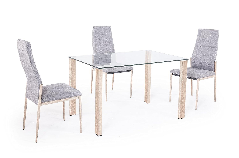 Mesa comedor salón o cocina mesa de Cristal Olimpia Adec patas color ...