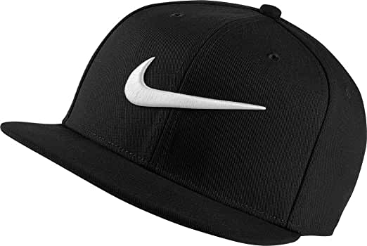 Nike U NK Pro Swoosh Classic Gorra, Hombre, Negro/Plata, Talla ...