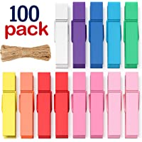 Mini Clothespins Clothes Pins Colored - Small Clothespins for Crafts Photos Wooden Paper Picture Clips Colorful Tiny…