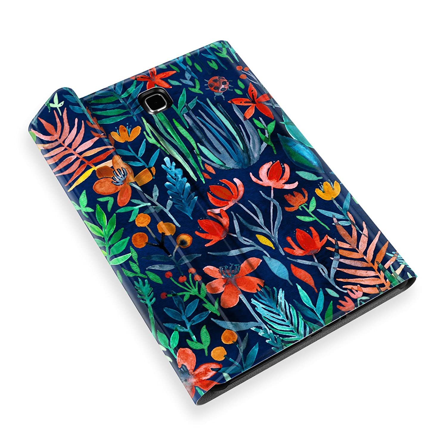 Jungle Night Fintie Samsung Galaxy Tab A 8.0 Keyboard Case SM-T350//T355//P350//P355 2015 Slim Shell Light Weight Stand Cover with Magnetically Detachable Wireless Bluetooth Keyboard for Tab A 8.0