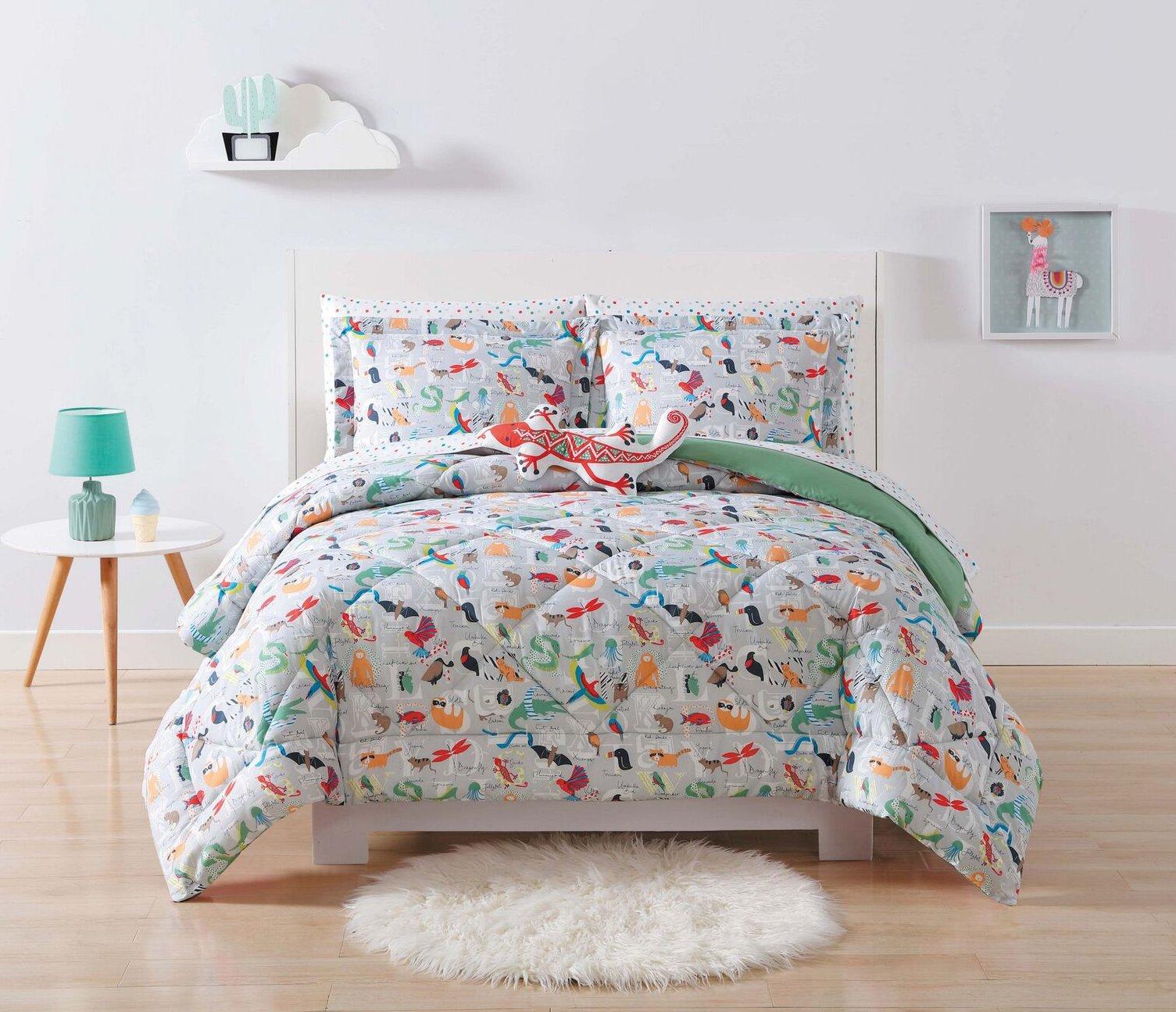 Laura Hart Kids Comforter Set, Twin/Twin XL, Animal Alphabet by Laura Hart Kids (Image #1)