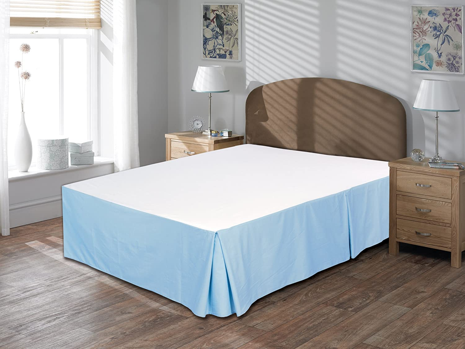 Utopia Bedding Cotton Sateen Bed-Skirt Queen, Blue