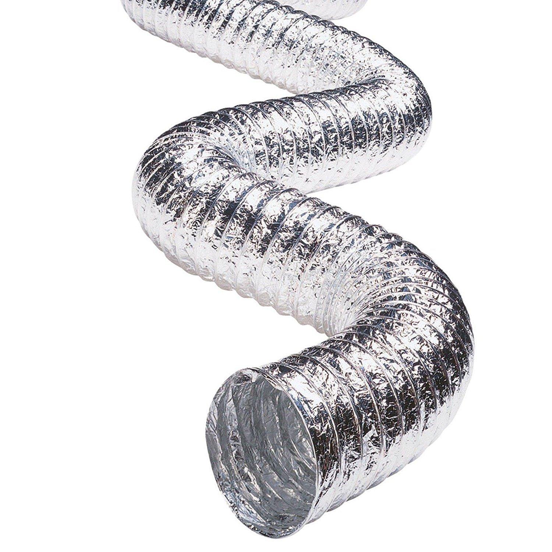 10,2/cm//100/mm Spares2go Flexible en aluminium Tuyau d/évacuation Tuyau d/échappement pour Delonghi Air Conditioner