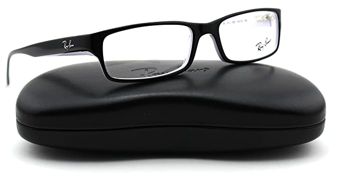 69c819568eb7 Image Unavailable. Image not available for. Colour: Ray-Ban RX5114 2097  Unisex Eyeglasses Black/White ...