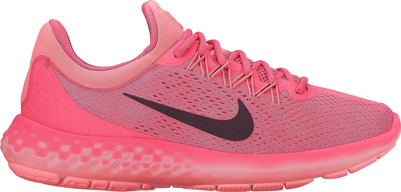 NIKE Womens Lunar Skyelux Round Toe Lace-up Running Shoes B01H5XO5F0 8 B(M) US|Hot Punch/Night Maroon